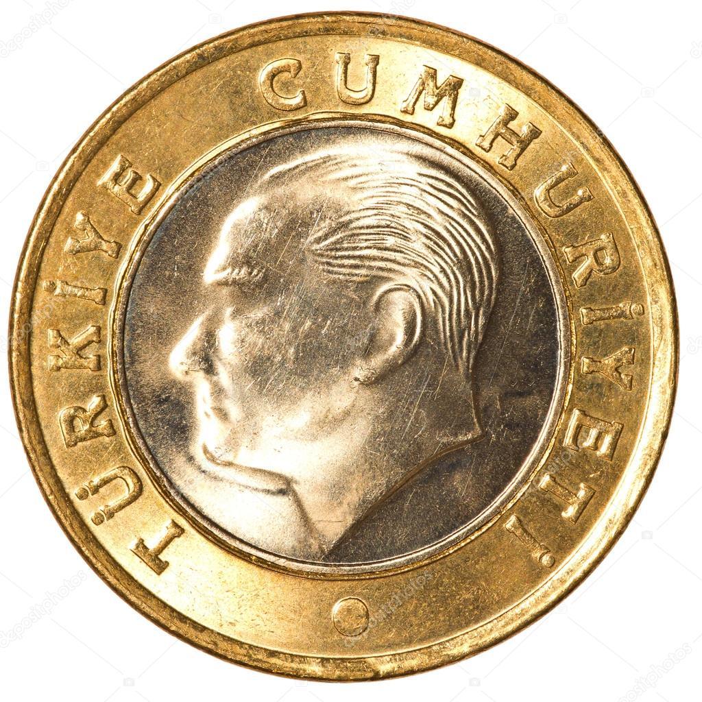 Eine Türkische Lira Münze Stockfoto Asafeliason 23938917