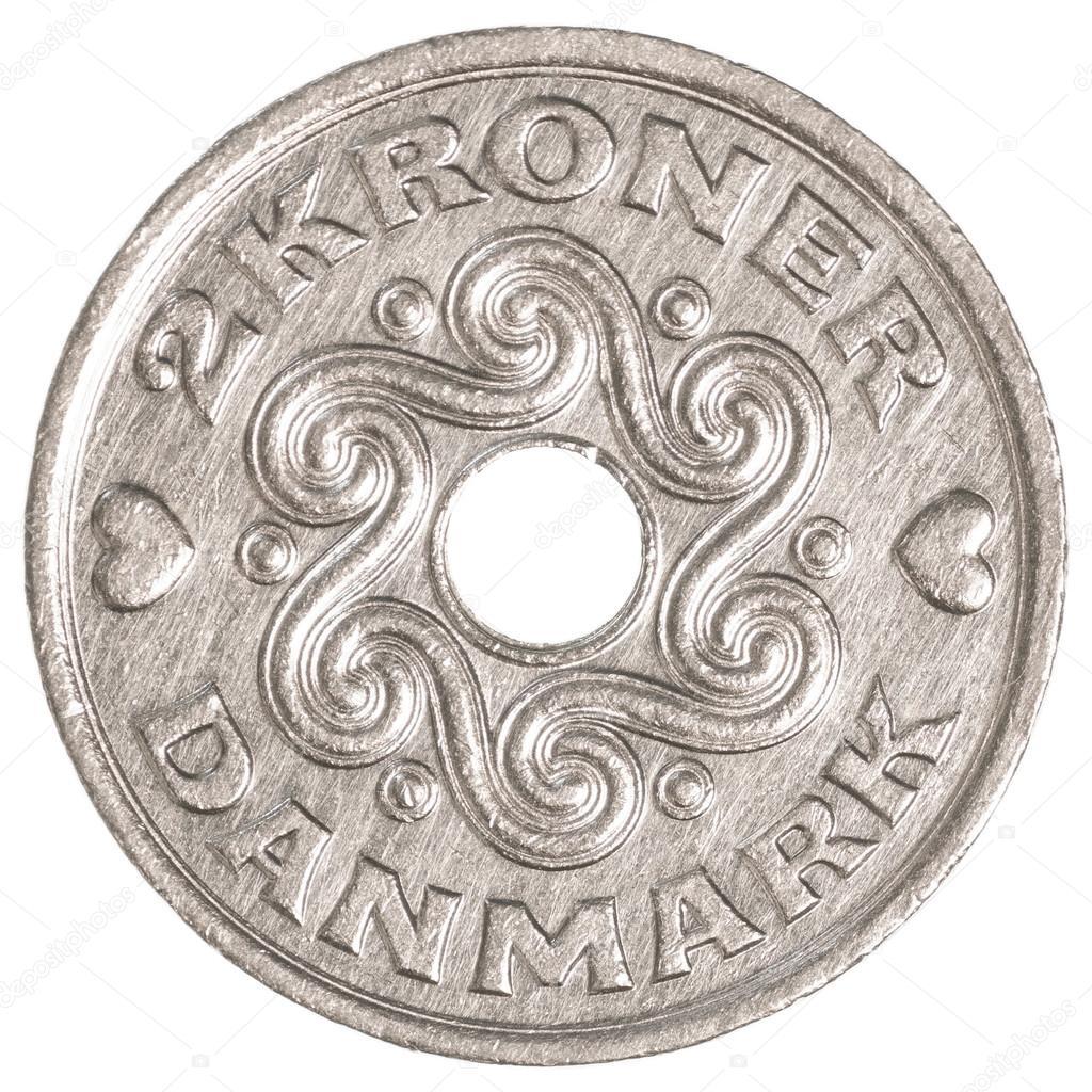 2 デンマーク クローネ硬貨 — ス...
