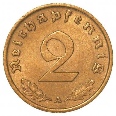 two german 3rd riech pfennig coin