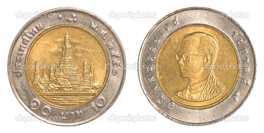10 Thai Baht Münze Stockfoto Asafeliason 40451707