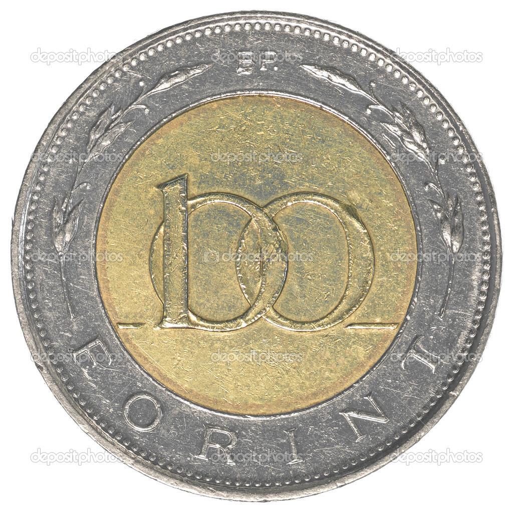 100 Ungarische Forint Münze Stockfoto Asafeliason 40456649