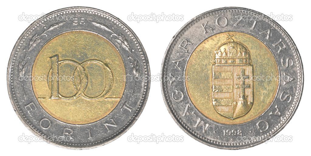 100 Ungarische Forint Münze Stockfoto Asafeliason 40456769
