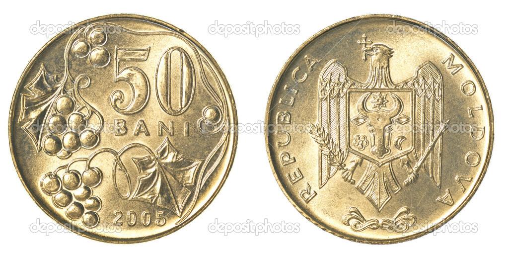 50 Moldauischen Bani Münze Stockfoto Asafeliason 40458583