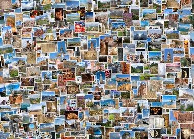 world travel collage