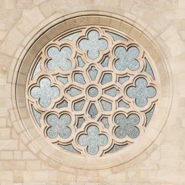 Saint Matthias Church window in Budapest