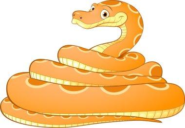 Cartoon illustration of a yellow snake
