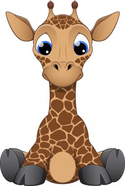 Fun zoo. Illustration of cute Giraffe