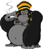 Photo gorilla Rastafarian
