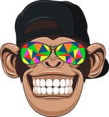 Fotografie legrační opice s brýlemi
