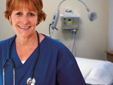Nurse In Patients Room