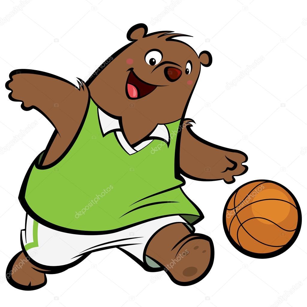 Kresleny Medved Basketbalovy Hrac Stock Vektor C Thodoristibilis