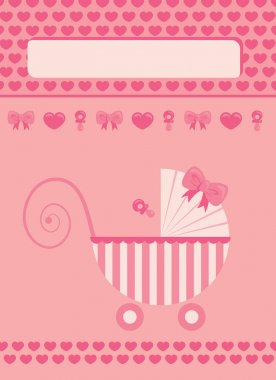 New born baby girl greeting card
