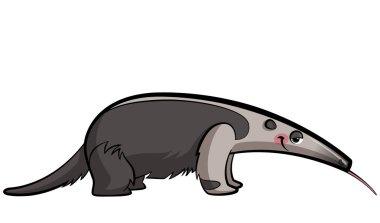 Cartoon anteater animal