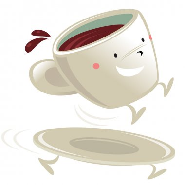 Cup of coffee cartoon character