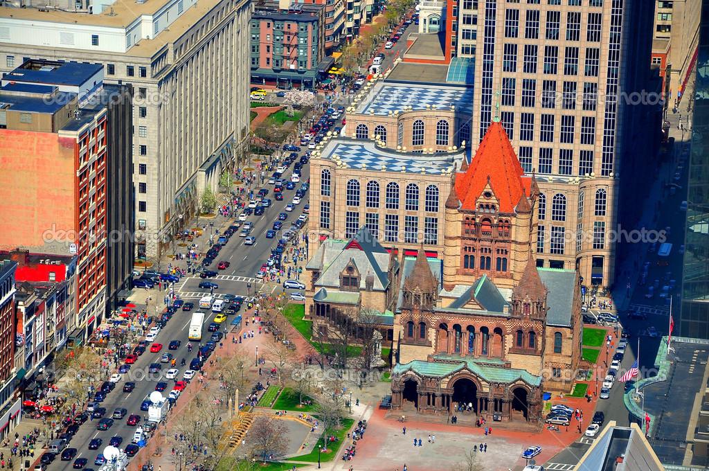 Trinity Church with Boston traffic — Stock Photo © dinhhang #25269203