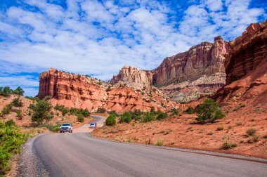 A park road in Capitol Reef National Park, Utah, USA