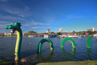 Dragon at Lego zone of Downtown Disney becomes fame in Chinese New Year period