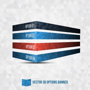 Vector 3D Option Banner