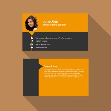 Modern simple light business card template