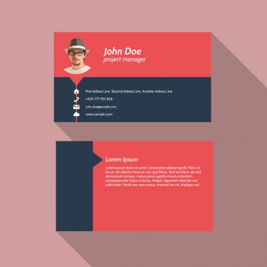 Modern simple light business card template