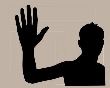 waving hand to good bye