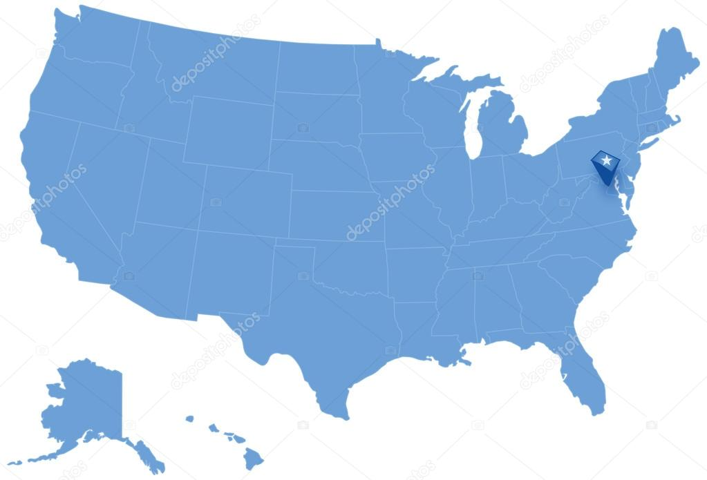 Map Of States Of The United States Where Federal District Of - Us-map-dc