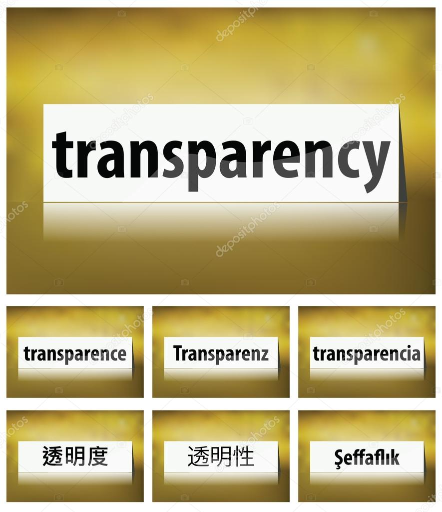 Transparency Concept on white background