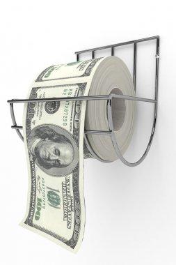 Money as toilet paper