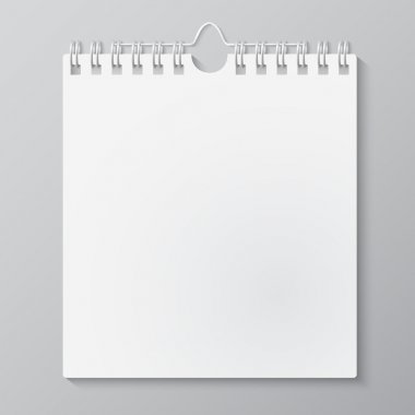 Blank wall calendar with spring