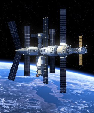 Space Station In Space
