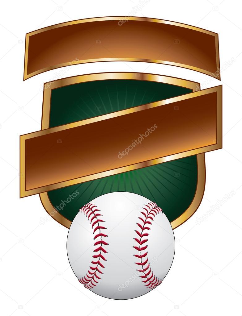 Escudo de plantilla de diseño de béisbol — Archivo Imágenes ...