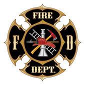 Feuerwehr-Malteserkreuz-vintage