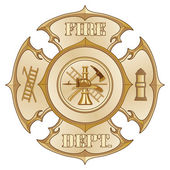 Feuerwehr cross Vintage gold