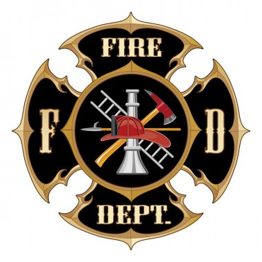 Fire Department Maltese Cross Vintage