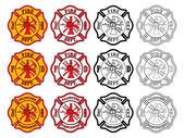 Feuerwehrmann cross symbol