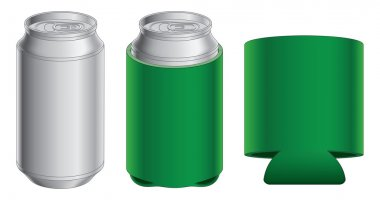 Aluminum Can and Collapsible Koozie