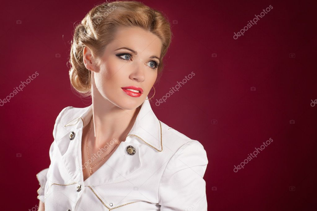Pin Up Sailor Girl Hairstyles Makeup And Hairstyle Blonde