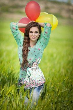 Beautiful happy woman