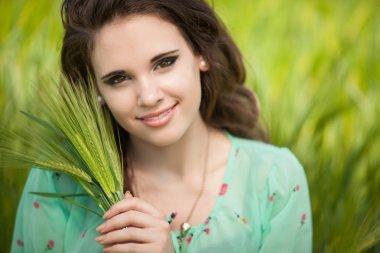 Beautiful happy teenager girl