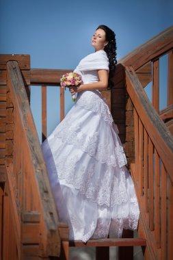 Beautiful slim bride