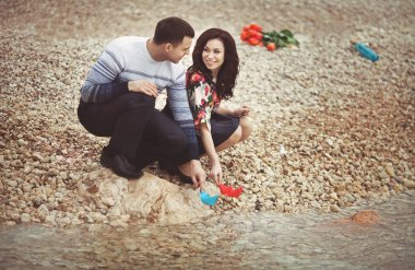 Loving couple on dating