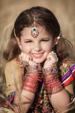 Indian girl in Indian jewelry