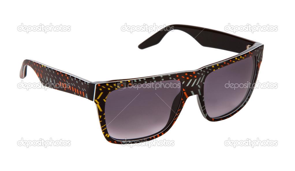negro con montura gafas de sol con trozos de papel picado colores ...