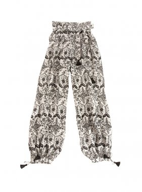 baggy pants with tassels