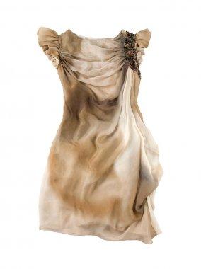 Butterfly sleeves tie dye dress
