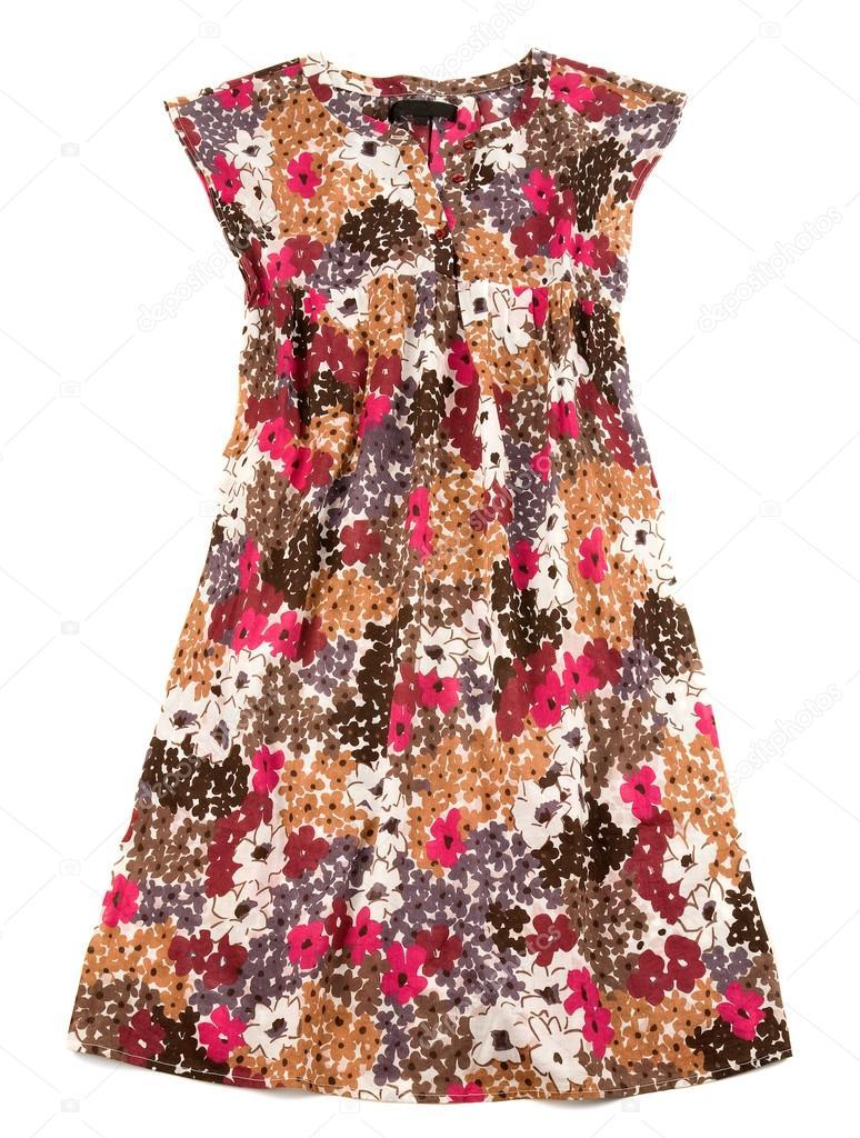Vestido largo flores pequenas