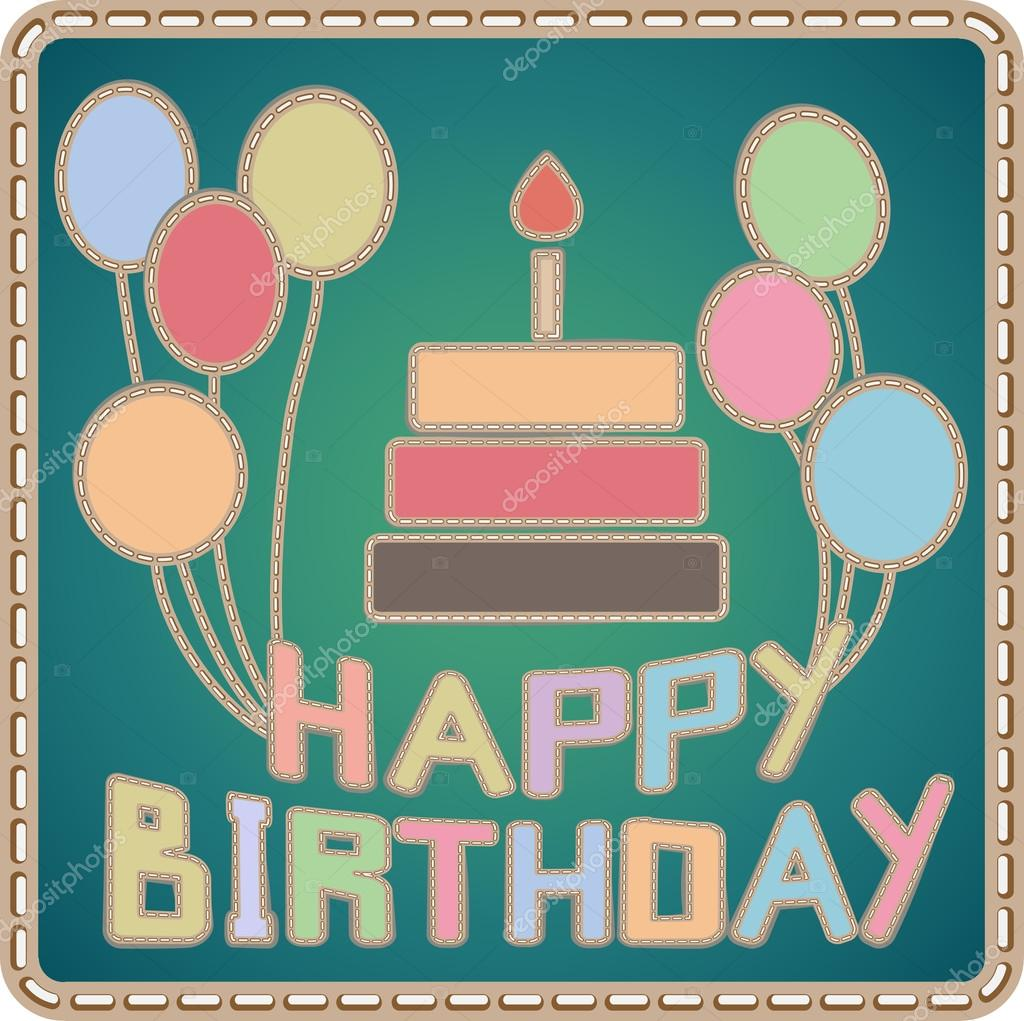Hand Made Birthday Card Stock Vector