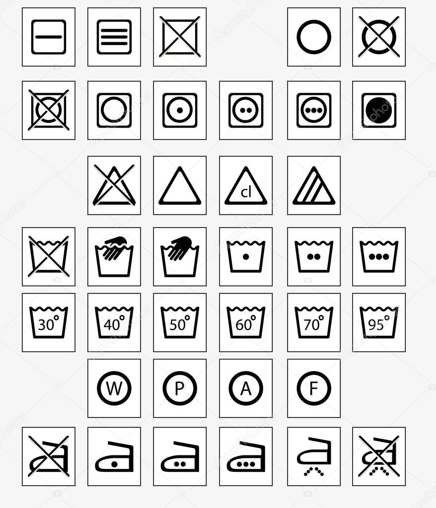 Laundry Symbols Stock Vector Iriselmo 29064373