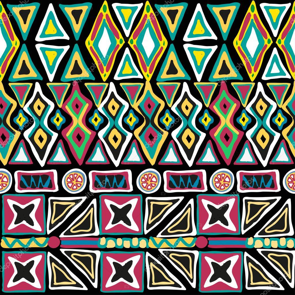 Seamless pattern hand-drawned geometry