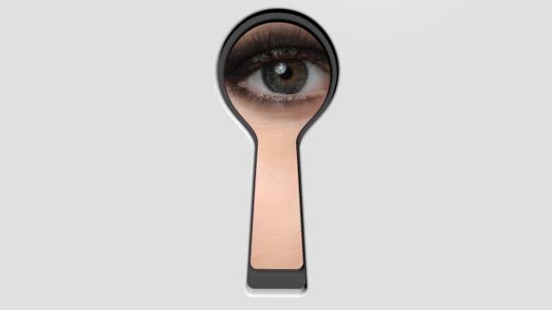 Peep eye in keyhole